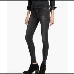Lucky Brand 'Brooklyn Skinny' Jeans 2/26 Black EUC